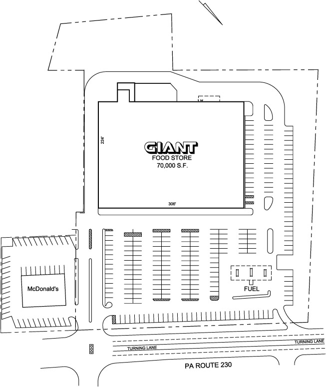 Giant Foods Plaza Site Plan Enlarged | The First City Company